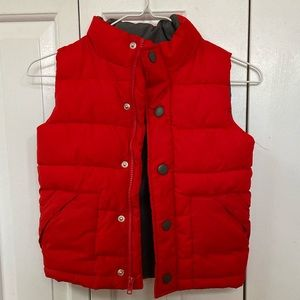 Gymboree Red Puffer Jacket Vest Size 4  XS